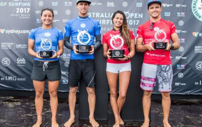 Mendes and Manuel Rule 2017 Australian Open of Surfing at Pumping Manly