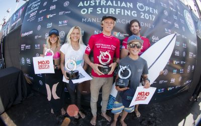 GROM CHAMPS CROWNED AS THE SUN SETS ON THE FIRST WEEKEND OF THE AUSTRALIAN OPEN OF SURFING