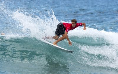 BIG SCORES AND BIGGER UPSETS ON DAY FOUR OF THE AUSTRALIAN OPEN OF SURFING